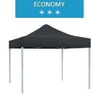 Namiot ekspresowy 3x3m, czarny, economy
