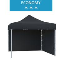 Namiot ekspresowy 3x3m + 2 ścianki, czarny, economy