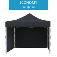Namiot ekspresowy 3x3m + 3 ścianki, czarny, economy