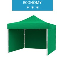 Express tent 3x3m + 3 walls, green, economy