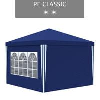 Namiot ekspresowy 3x3m + 4 ścianki, niebieski, PE classic