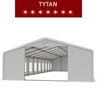 Namiot imprezowy 10x20m, PCV biały, tytan