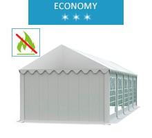 Namiot imprezowy 4x10m, PCV biały, economy, trudnopalny
