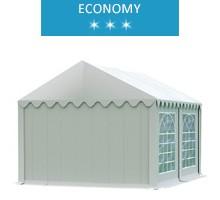 Namiot imprezowy 3x4m, PCV biały, economy