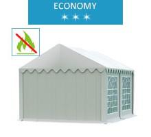Namiot imprezowy 3x4m, PCV biały, economy, trudnopalny