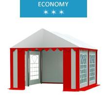 Namiot imprezowy 3x4m, PCV biało-czerwony, economy