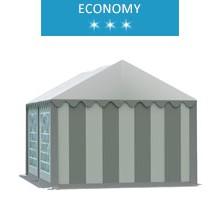 Namiot imprezowy 3x4m, PCV biało-szary, economy
