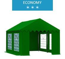 Namiot imprezowy 3x4m, PCV zielony, economy