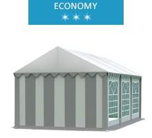 Namiot imprezowy 3x6m, PCV biało-szary, economy