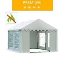 Namiot imprezowy 3x4m, PCV biały, premium, trudnopalny