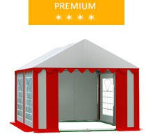 Namiot imprezowy 3x4m, PCV biało-czerwony, premium