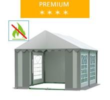 Namiot imprezowy 3x4m, PCV biało-szary, premium, trudnopalny
