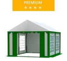 Namiot imprezowy 3x4m, PCV biało-zielony, premium