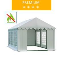 Namiot imprezowy 3x6m, PCV biały, premium, trudnopalny