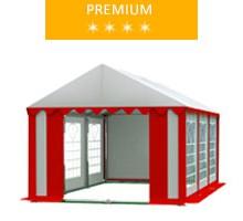 Namiot imprezowy 3x6m, PCV biało-czerwony, premium