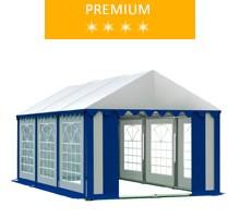Namiot imprezowy 3x6m, PCV biało-niebieski, premium