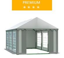 Namiot imprezowy 3x6m, PCV biało-szary, premium