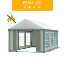Namiot imprezowy 3x6m, PCV biało-szary, premium, trudnopalny