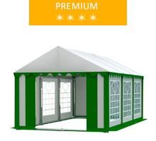 Namiot imprezowy 3x6m, PCV biało-zielony, premium