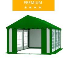Namiot imprezowy 3x6m, PCV biało-zielony z dachem zielonym, premium