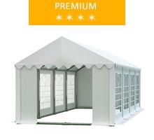 Party tent 4x8 m, white PVC, premium