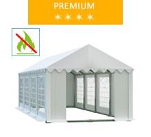 Namiot imprezowy 4x8m, PCV biały, premium, trudnopalny