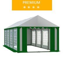 Namiot imprezowy 4x8m, PCV biało-zielony, premium