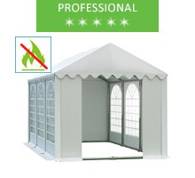Namiot imprezowy 4x6m, PCV biały, professional, trudnopalny