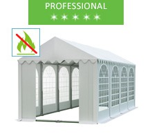 Party tent 4x8m, white PVC, professional, fireproof