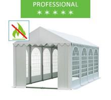 Namiot imprezowy 4x8m, PCV biały, professional, trudnopalny