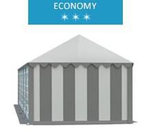 Namiot imprezowy 4x10m, PCV biało-szary, economy