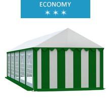Namiot imprezowy 4x10m, PCV biało-zielony, economy