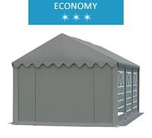 Namiot imprezowy 4x6m, PCV szary, economy