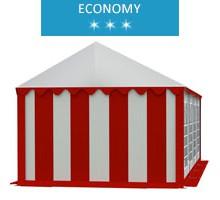 Namiot imprezowy 4x8m, PCV biało-czerwony, economy