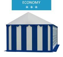 Namiot imprezowy 4x8m, PCV biało-niebieski, economy