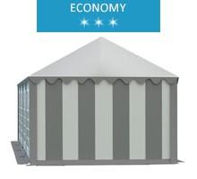Namiot imprezowy 4x8m, PCV biało-szary, economy