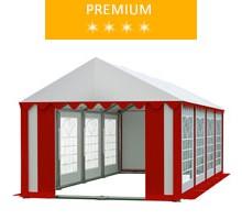 Namiot imprezowy 4x8m, PCV biało-czerwony, premium