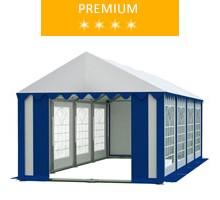 Namiot imprezowy 4x8m, PCV biało-niebieski, premium