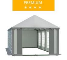 Namiot imprezowy 4x8m, PCV biało-szary, premium