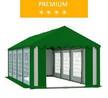 Namiot imprezowy 4x8m, PCV biało-zielony z dachem zielonym, premium