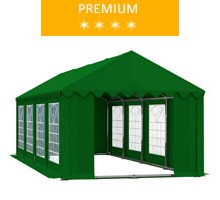 Namiot imprezowy 4x8m, PCV zielony, premium