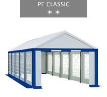 Namiot imprezowy 4x10m, biało-niebieski, PE classic