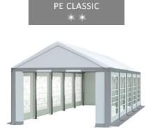 Namiot imprezowy 4x10m, biało-szary, PE classic