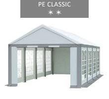 Namiot imprezowy 4x8m, biało-szary, PE classic