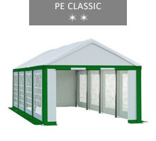 Namiot imprezowy 4x8m, biało-zielony, PE classic