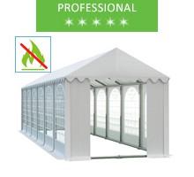 Namiot imprezowy 4x12m, PCV biały, professional, trudnopalny