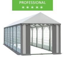 Namiot imprezowy 4x12m, PCV biało-szary, professional