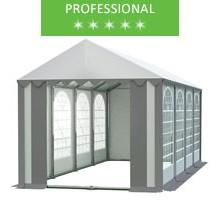Namiot imprezowy 4x8m, PCV biało-szary, professional