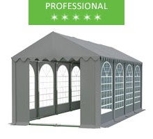 Party tent 4x8m, gray PVC, professional