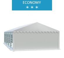 Namiot imprezowy 5x10m, PCV biały, economy